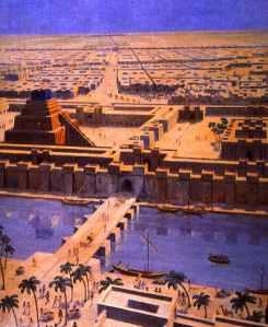 Babylon - Stadtansicht - Zeichnung